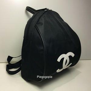 Authentic Chanel Nylon Logo Backpack Brand New